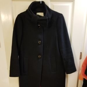 Bow, Funnel Neck, Kate Spade Coat, Size 4